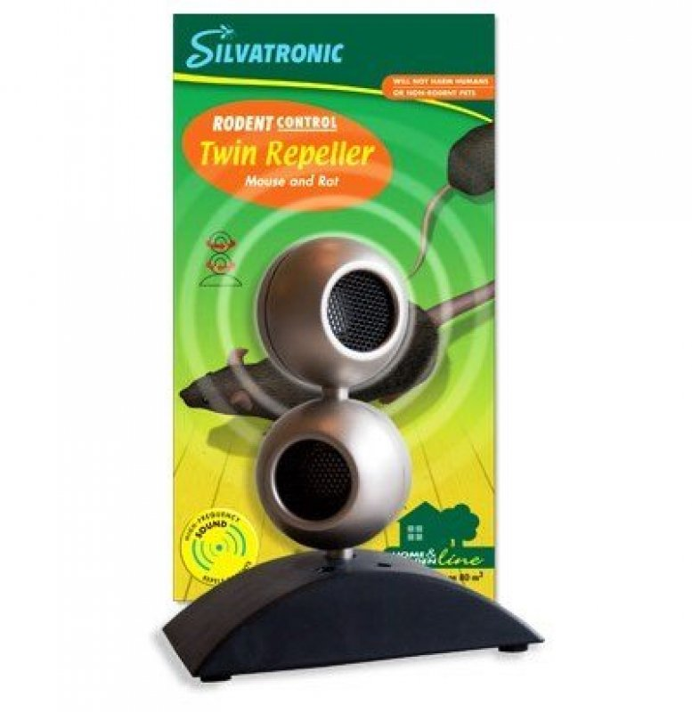 Gnagarkontroll Twin Repeller Elektrisk Mus   Råttskrämmare Silvatronic 31ee92dd52971