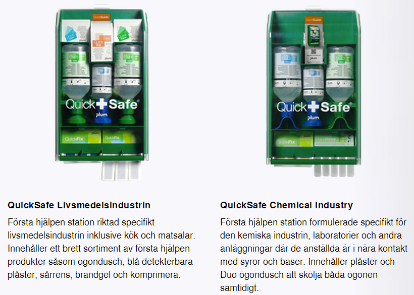 Plum QuickSafe livsmedelsindustri & Chemical Industri